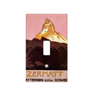 Viaje del vintage montaña de Cervino Suiza Placa Para Interruptor