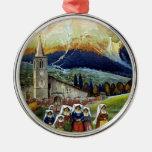 Viaje del vintage, mujeres de Abruzos, Italia Adornos De Navidad