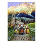 Viaje del vintage, mujeres de Abruzos, Italia Invitacion Personal