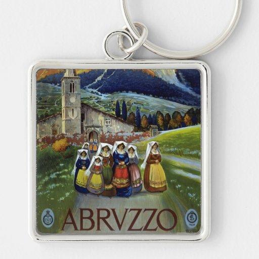 Viaje del vintage, mujeres de Abruzos, Italia Llaveros