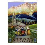 Viaje del vintage, mujeres de Abruzos, Italia Felicitacion