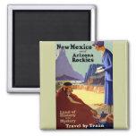 Viaje del vintage - New México y Arizona Rockies Iman Para Frigorífico