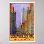 Viaje del vintage, Nueva York Impresiones