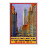Viaje del vintage, Nueva York Póster