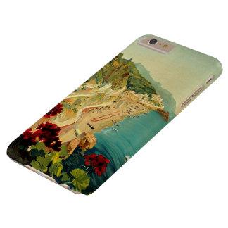 Viaje del vintage, playa italiana de la costa de funda de iPhone 6 plus barely there
