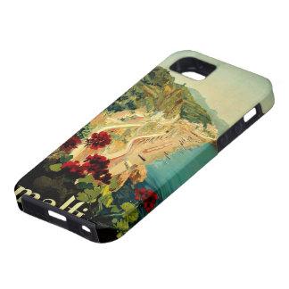 Viaje del vintage, playa italiana de la costa de iPhone 5 Case-Mate cobertura