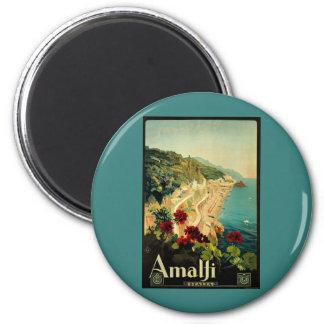 Viaje del vintage, playa italiana de la costa de imán redondo 5 cm