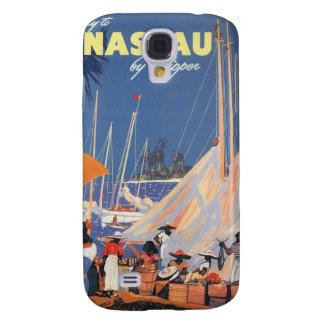 Viaje del vintage, puerto de Nassau, la Florida, Funda Para Galaxy S4
