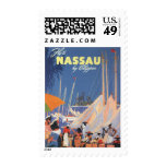 Viaje del vintage, puerto de Nassau, la Florida, v