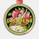 Viaje del vintage, rosas de la mujer, Pasadena Cal Adorno