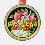Viaje del vintage, rosas de la mujer, Pasadena Adorno