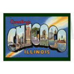 Viaje del vintage, saludos de Chicago Illinois Tarjeta