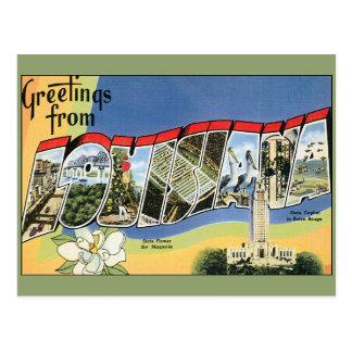 Viaje del vintage saludos de Luisiana