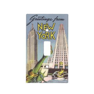 Viaje del vintage señales famosas de New York Cit Cubiertas Para Interruptor