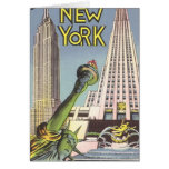 Viaje del vintage, señales famosas de New York Tarjeta