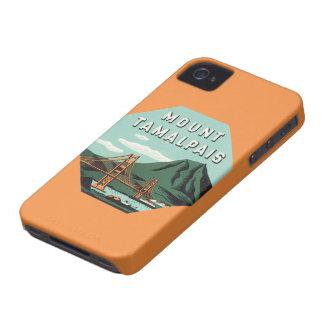 Viaje del vintage, soporte Tam, montaña de iPhone 4 Case-Mate Cárcasas