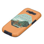Viaje del vintage, soporte Tam, montaña de Tamalpa Samsung Galaxy S3 Funda