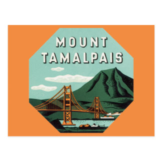 Viaje del vintage, soporte Tam, montaña de Tarjeta Postal
