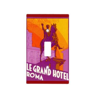 Viaje del vintage Statue Le Grand Hotel Roma Ital Placa Para Interruptor