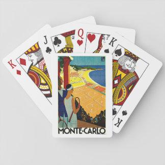 Viaje del vintage, tenis, deportes, Monte Carlo Cartas De Póquer