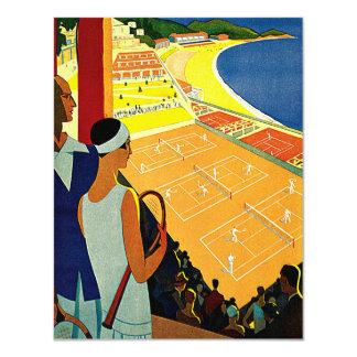 Viaje del vintage, tenis, deportes, Monte Carlo Invitacion Personal