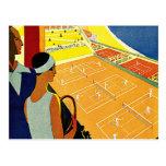 Viaje del vintage, tenis, deportes, Monte Carlo Mó Tarjetas Postales