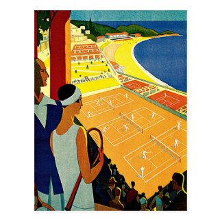 Viaje del vintage, tenis, deportes, Monte Carlo Postal