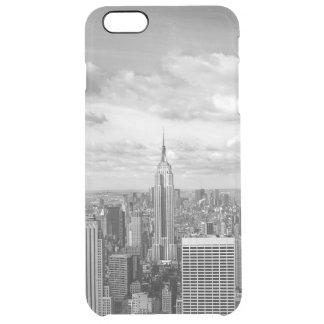 Viaje del wanderlust del horizonte de New York Funda Clearly™ Deflector Para iPhone 6 Plus De Unc