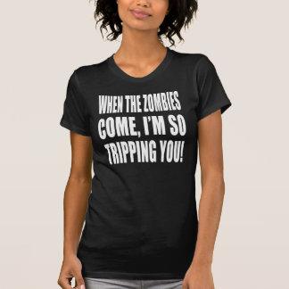 Viaje del zombi camisetas