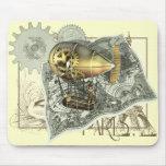 Viaje dirigible Mousepad del aire de Steampunk Tapete De Raton