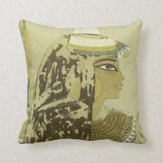 Viaje egipcio antiguo del vintage del tocado de la cojín decorativo