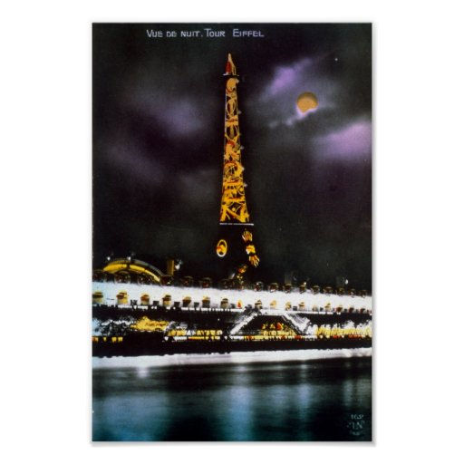 Viaje Eiffel de París en el arte del poster de la