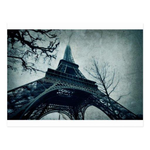 viaje Eiffel de París Postal
