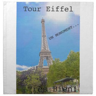 Viaje Eiffel del La Servilleta Imprimida