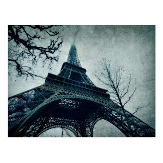 viaje Eiffel del postale de la Eiffel-carta del vi Postales