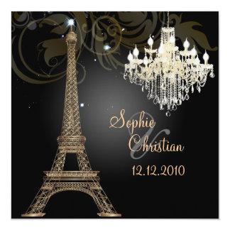 """Viaje Eiffel/París del la de PixDezines Invitación 5.25"""" X 5.25"""""""