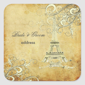 Viaje Eiffel/París del la de PixDezines Pegatina Cuadrada