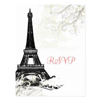 Viaje Eiffel/París del la de PixDezines Postal