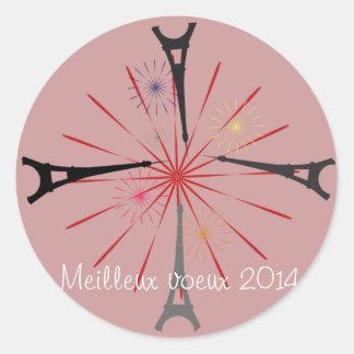 Viaje Eiffel Pegatina Redonda