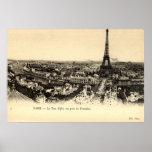 Viaje Eiffel, vintage del La de París Francia c191 Posters