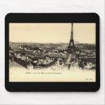 Viaje Eiffel, vintage del La de París Francia c191 Tapetes De Ratón