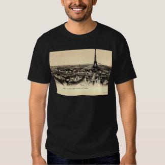 Viaje Eiffel, vintage del La de París Francia Camisas