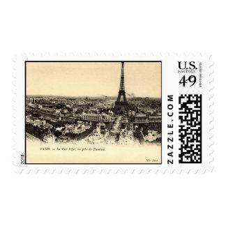 Viaje Eiffel, vintage del La de París Francia Sello
