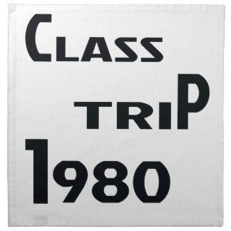 Viaje el an o 80 de la clase servilleta