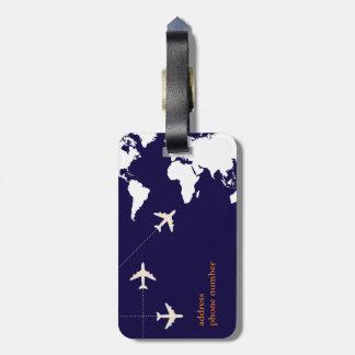 viaje elegante del aeroplano etiqueta de maleta