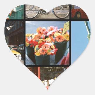 Viaje en el extranjero a NewYork Pegatina En Forma De Corazón