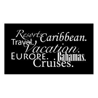 Viaje en el negro/blanco tarjetas de visita