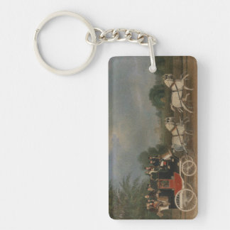 Viaje en Inglaterra, 1835. Llavero Rectangular Acrílico A Una Cara