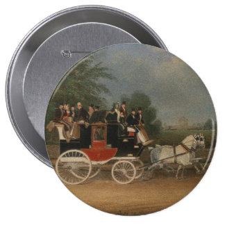 Viaje en Inglaterra, 1835. Pin Redondo De 4 Pulgadas