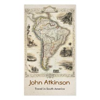 viaje en tarjeta de visita de Suramérica